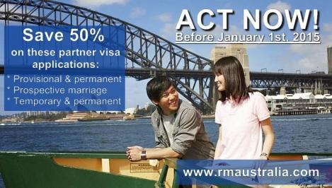 Australian Partner Visa application increase