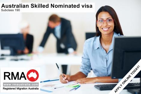 Australian Skilled Nominated Subclass 190 Visa