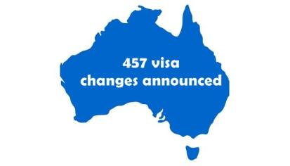 457 visa changes announced